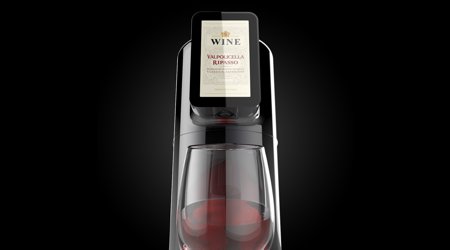Al Bicchiere wine dispenser by Emanuele Pangrazi