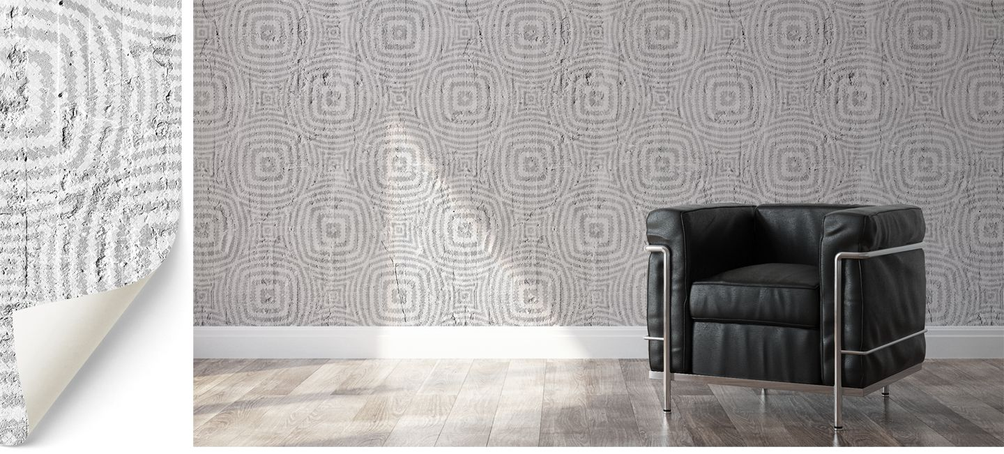 Optical circles wallpaper designed by Emanuele Pangrazi
