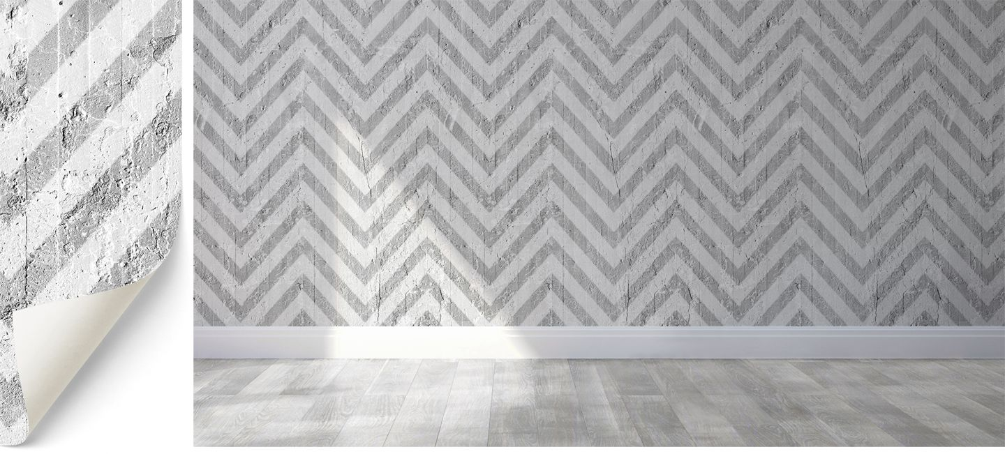 Optical stripes wallpaper designed by Emanuele Pangrazi